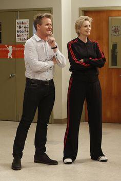 Gordon Ramsay on Glee Chef Gordon Ramsay, Jane Lynch, Fox Tv, Cory Monteith, Glee, Favorite Tv Shows, Pop Culture, Movie Tv, Clueless