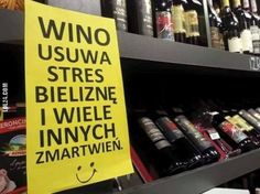WINO USUWA STRES... #wino #usuwa #stres In Vino Veritas, Timeline Photos, Humor, Sayings, Quotes, Poland, Funny Things, Meme, Drink