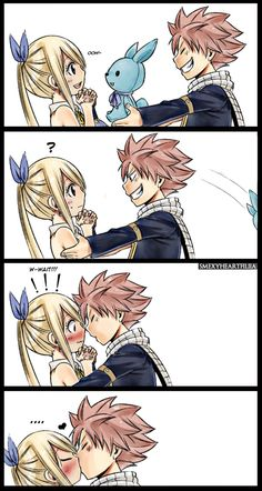 My Incoherent Life — Kiss kiss ~ Fairy Tail Kids, Arte Fairy Tail, Fairy Tail Meme, Fairy Tail Quotes, Fairy Tail Gruvia, Fairy Tail Comics, Fairy Tail Family, Fairy Tail Natsu And Lucy, Fairy Tale Anime