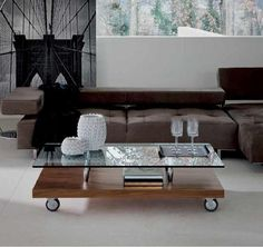 1000 images about home mesas de cristal on pinterest - Mesa centro madera y cristal ...