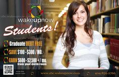 Wake Up Now!  Students.... Moms.. Dads...Educators, Wake Up to Savings, Managing Money, and Earn!!  ryandaviswun@yahoo.com