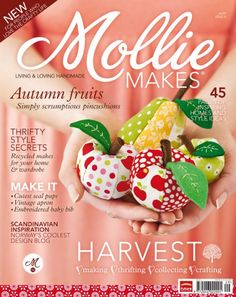 I love this magazine.  Each issue has a free kit attached.  This issue #6  has a retro purse clasp and fabric.  Download free patterns here and for all the issues.  Awesome!