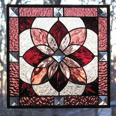 Stained Glass Starburst Beveled Panel Shades of by LivingGlassArt