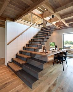 A #staircase that doubles as a #desk / #workspace? Count us in. \\\ Design by @batesmasi