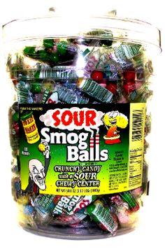 Toxic Waste Smog Balls @BaileyB7300 Sour Candy, Balls, Snack Recipes, Chips, Delivery, Sugar, American, Party, Food