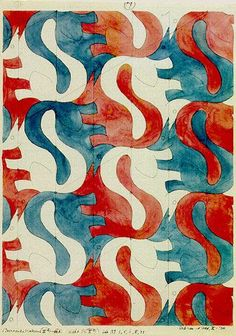 Tessellation art squirrels by M C Escher Mc Escher, Escher Kunst, Escher Art, Escher Tessellations, Tessellation Patterns, Mathematical Drawing, Illustrations, Illustration Art, Tesselations