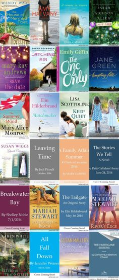 2014 Must Read Books. 2 of my fav authors are included- Elin Hilderbrand & Emily Giffin