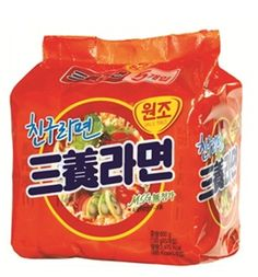 """Korean Ramyeon (Ramen) : Launched in 1963, Samyang ramyeon is the oldest Korean ramyeon brand. Samyang ramyeon is simply the """"original"""" ramyeon. When you're in the mood for the simplest, non-particular, generic ramyeon, this is what you go for."""