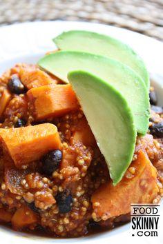 Quinoa Black Bean Sweet Potato Chili