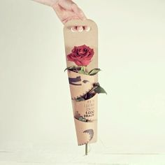 All princesses deserve a rose! ★Happy Saint George's Day!★ Here in Catalonia men give women roses, and women give men a book to celebrate the occasion! http://selfpackaging.com/2270-box-for-flowers-1083.html #flowerpackaging #packaging #rose #handmade #design #cardboard