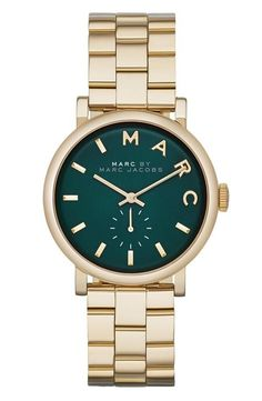 Marc Jacobs emerald face watch