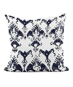 This Spring Navy Floral Pillow is perfect! #zulilyfinds