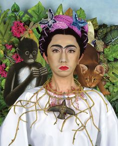 Yasumasa Morimura, An Inner Dialogue With Frida Kahlo (Collar of Thorns, 2001, Gary Tatintsian Gallery Inc.