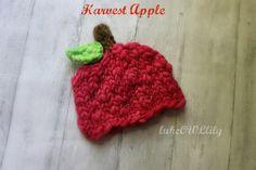 apple hat IN STOCK harvest apple hat beanie by lukeOWLlily on Etsy, $26.00