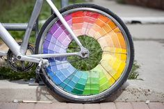 Paintings Swatch, Paint Chips, Color Wheels, Colors Wheels, Bicycles Wheels, Colour Wheel, Bike Wheels, Paintings Samples, Paintings Chips