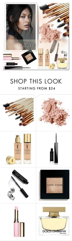 """""""* beauty power *"""" by miss-sunshine-25 ❤ liked on Polyvore featuring beauty, Bobbi Brown Cosmetics, Yves Saint Laurent, Givenchy, Clarins, Dolce&Gabbana, Beauty, everydaylook, beautyset and lookbeautiul"""