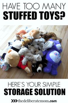 Not sure how to store and organize all of your child's stuffed animals?! Check out this handy and clever DIY stuffed animal storage hack!