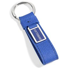 Raffinato ed elegante portachiavi in pelle blu per il lui che presta attenzione alla moda dei suoi accessori. Collezione Morellato Italia