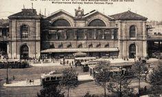 Paris, la Gare de Montparnasse et la place de Rennes, vers 1900.