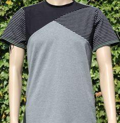 ✂ Schnittmuster Benedikt ✂ T-Shirt für Männer mit asymetrischer Teilung bei Makerist