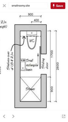 Tiny Bathrooms, Attic Bathroom, Basement Bathroom, Bathroom Flooring, Bathroom Storage, Bathroom Layout Plans, Small Bathroom Layout, Bathroom Floor Plans, Small Shower Room