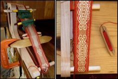 Using an inkle loom with backstrap weaving techniques