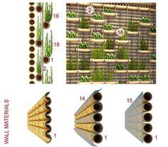 Tradicionales Casas flotantes de bambú