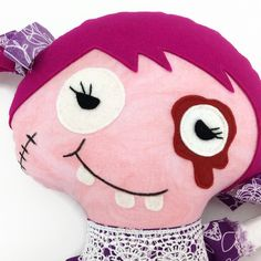 www.chicetrouge.com Halloween, Hello Kitty, Creations, Etsy, Chic, Character, Zombie Dolls, Red, Shabby Chic