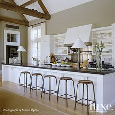 East Hampton kitchen. For more inspiration, go to luxesource.com. #design #kitchen #food