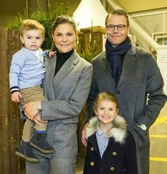 Crown Princess Victoria and Prince Daniel with their children Princess Estelle and Prince Oscar at Sweden International Horse Show at Friends Arena