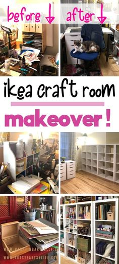 It was time! Time to get my craft room in order and so I picked the Kallax bookcases and two Alex desks from Ikea to organize my craft room storage area. Here are all my best tips, ideas and inspiration for getting your craft supplies organized!