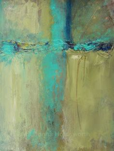 Donna Holdsworth Contemporary Art abstract aqua teal turquoise gold