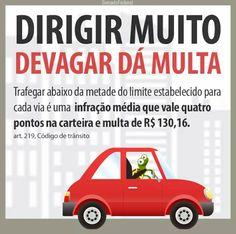 Na via em que a velocidade máxima é de 60km/h, a multa pode ser aplicada a quem trafega em velocidade de abaixo 30km/h