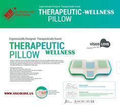 amazoncom celliant sleep therapeutic wellness anti snore memory foam pillow by visco love