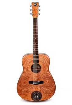 Acoustic Guitar - Copper Canyon, Modified Altered, Playable Art Instrument. $525.00, via Etsy.