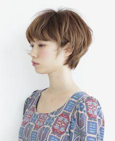 ニュアンスカール ショートボブ ヘアスタイルカタログ 髪型 HAIRstyle 美容室 可愛い shortbob