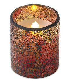 Love this 4'' LED Mosaic Candle on #zulily! #zulilyfinds