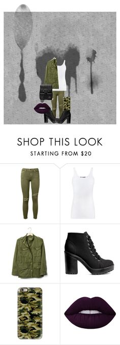 """""""Girl Military Outfit"""" by jamroxoxo on Polyvore featuring moda, Current/Elliott, Vince, Gap, H&M, Casetify, Lime Crime, Sole Society, purple i tumblr"""