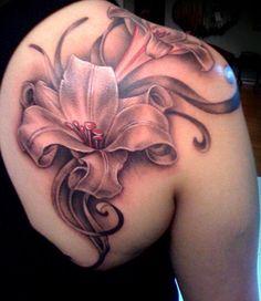 Výsledok vyhľadávania obrázkov pre dopyt flower tattoo lily