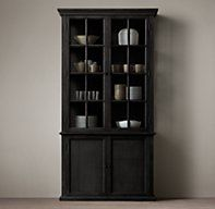 PURCHASED: Hampton Casement Double-Door Panel Sideboard & Glass Hutch- the new top runner for Grammaw's china
