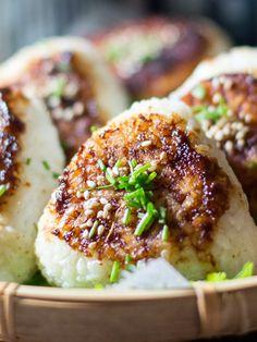 Yaki Onigiri (Grilled Rice Ball) with Miso Butter Sauce 焼きおにぎり味噌バター味 | Chopstick Chronicles