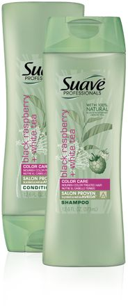 Suave Professionals Black Raspberry and White Tea Shampoo and Conditioner - This stuff is so cheap and really good for color treated hair!
