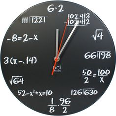 all i want in life is a clock like this (only maybe with more complicated math like trig and calc and stuff).