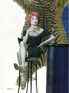 "The Art of Robert E. McGinnis - S&N Deluxe Limited Edition features cool slide-in cover; a signed print of Kill Now, Pay Later; the book's also signed by McGinnis and features a never-before-published pencil sketch. If you love McGinnis, this is a must at $75. 176 pages 9x12"" #mcginnis #pinup #madmen #60s #book #paperback #mysteries #romance #james_bond #bond #jamesbond #illustration #breakfast_at_tiffanys"