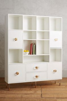 Luxury White Lacquer Storage Cabinet