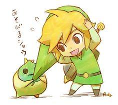 Link & Makar - The Legend of Zelda: The Wind Waker; fan art