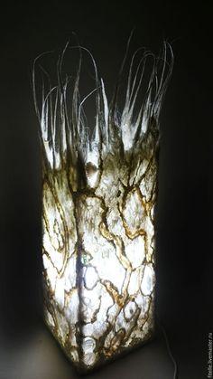"""Купить Светильник """" Айсберг"""" - белый, светильник ручной работы, светильник, свет, ночник, освещение"""