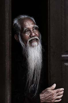 ♂ photography Asian man portrait Old wise man by Réhahn Photography