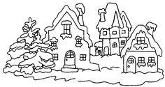 dorpje in de sneeuw