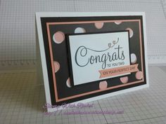 Stampin up 2015 occasions catalog, stampin up set your perfect day stamp set, wedding card.